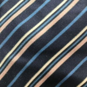 Don Loper Blue Brown Striped Necktie A050704